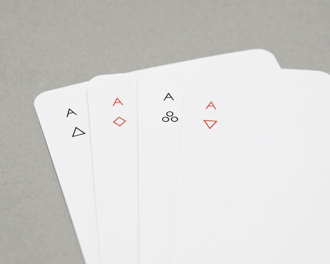 Minimalist Playing Card Deck Modern Joe Doucet Playing Cards