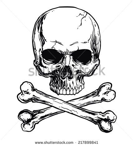 skull and crossbones free vector in adobe illustrator ai ( .ai