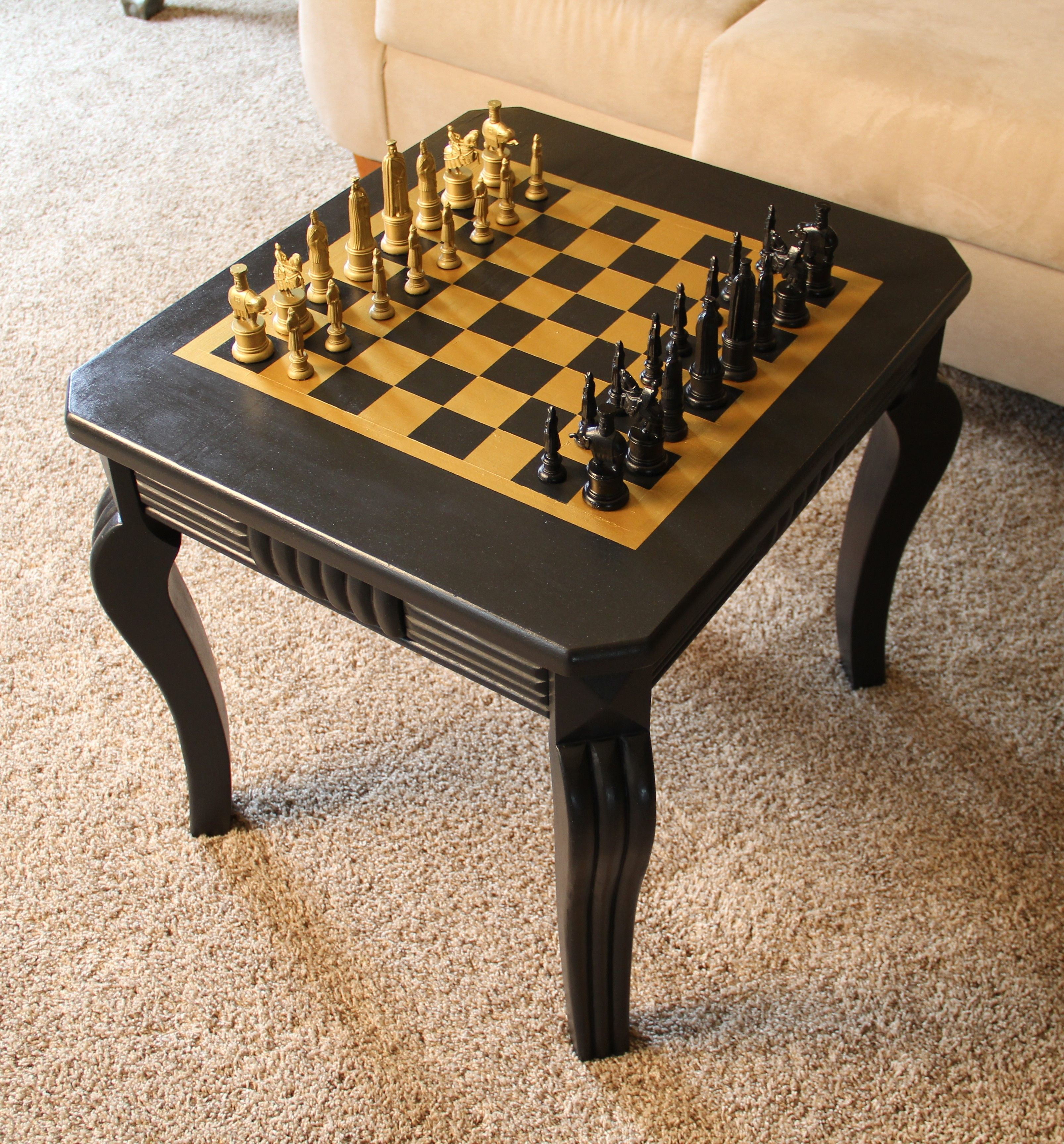 Good This Little Table Is Multi Functional And Can Be Used As A Side Table As  Well As A Game Board Table To Play Chess On! We Love The Structure And  Angles Of ...