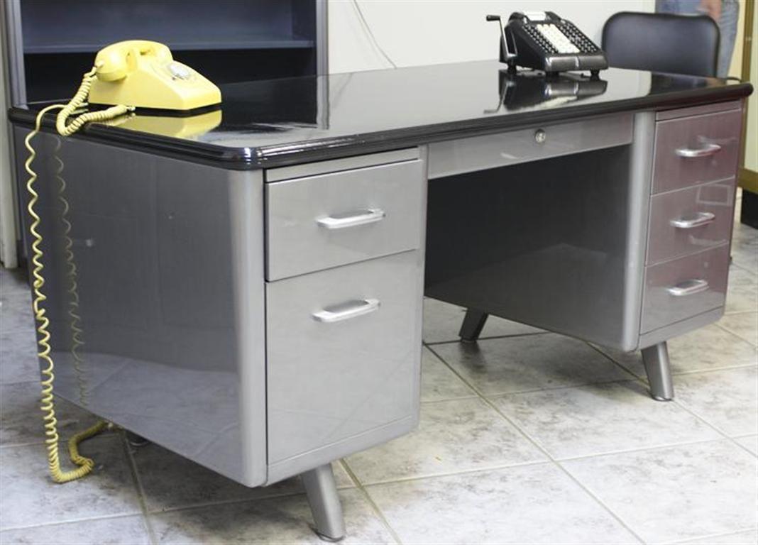 Office desk vintage Industrial Allsteel Equipment Arch Leg Tanker Desk Vintage Ase Desk Brushed Steel Tanker Desk Ebay Allsteel Equipment Arch Leg Tanker Desk Vintage Ase Desk Brushed