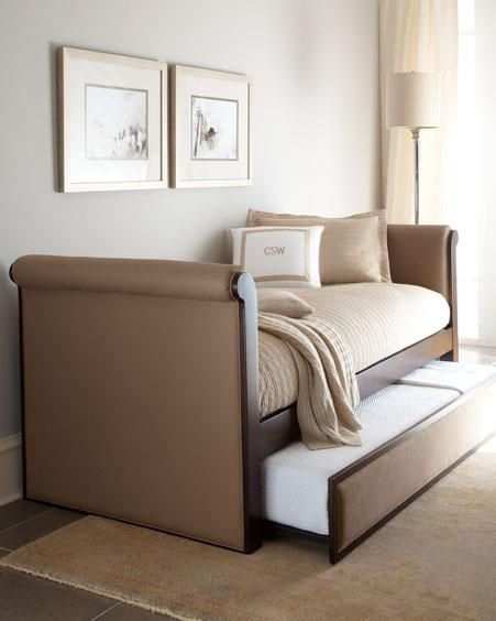 Guest room and Den....beautiful day bed  with storage.