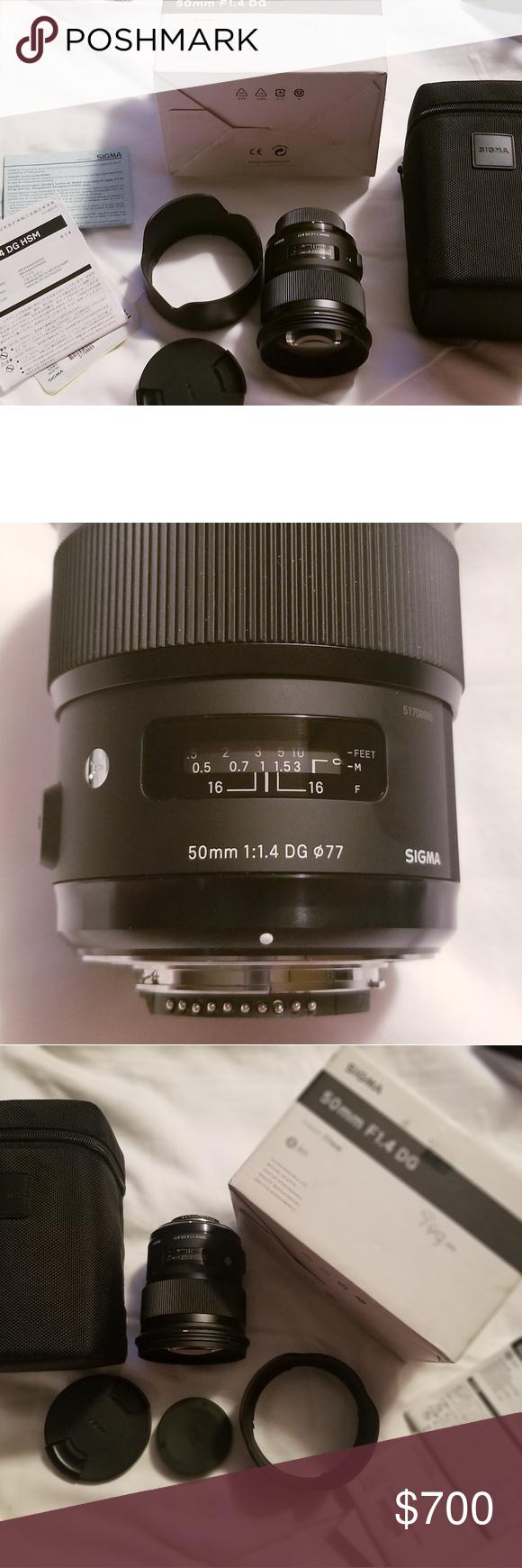 Sigma Af 50mm F 1 4 Dg Hsm Art Lens For Nikon Brand New Never Been Used Sigma 50mm F1 4 Dg Hsm Art Lens For Nikon Cameras Include Art Lens Nikon Prime Lens