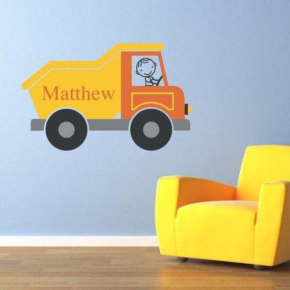 Dump Truck Wall Decal Personalized Name By Stephenedwardgraphic