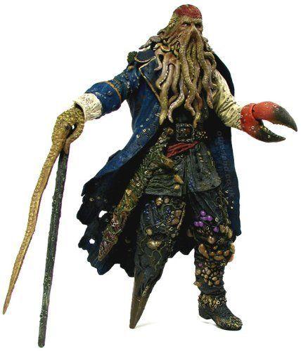 "NECA DAVY JONES 12/"" Action Figure W// Sound Pirates of Caribbean Dead Man/'s Chest"