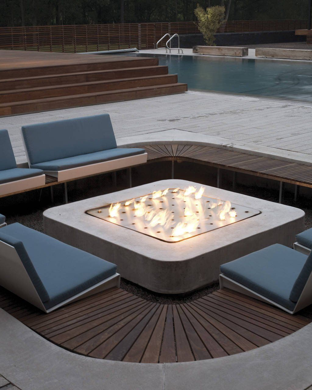 fire pit curved house springfield missouri usa by hufft projects