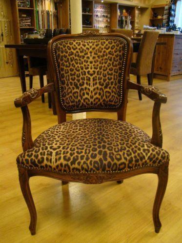 Spiksplinternieuw Stoel barok, fauteuil dierenprint luipaard | Oude barok stoelen en IU-75