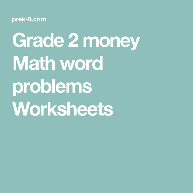 Grade 2 money Math word problems Worksheets | ADHD and Dyscalculia ...