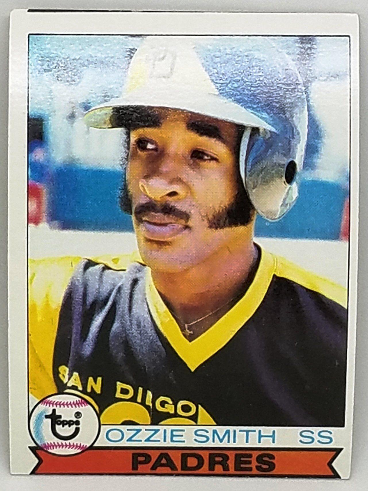 1979 Topps 116 Ozzie Smith Rookie Card Set Break Hof Wizard Oz Padres Shortstop 100 Original Baseball Card Values Baseball Cards Baseball Cards For Sale