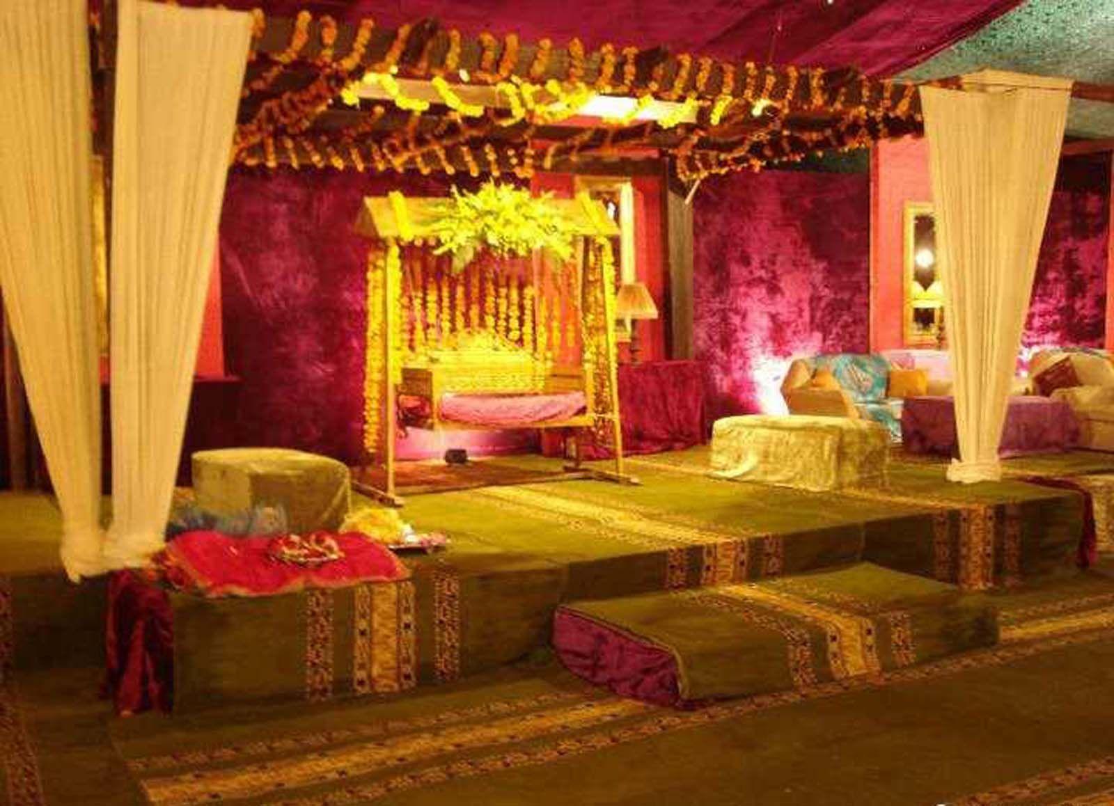 Bengali Wedding Guide Gaye Holud Or Turmeric On The Body Stage Decoration Idea Stage Decorations Bengali Wedding Decor