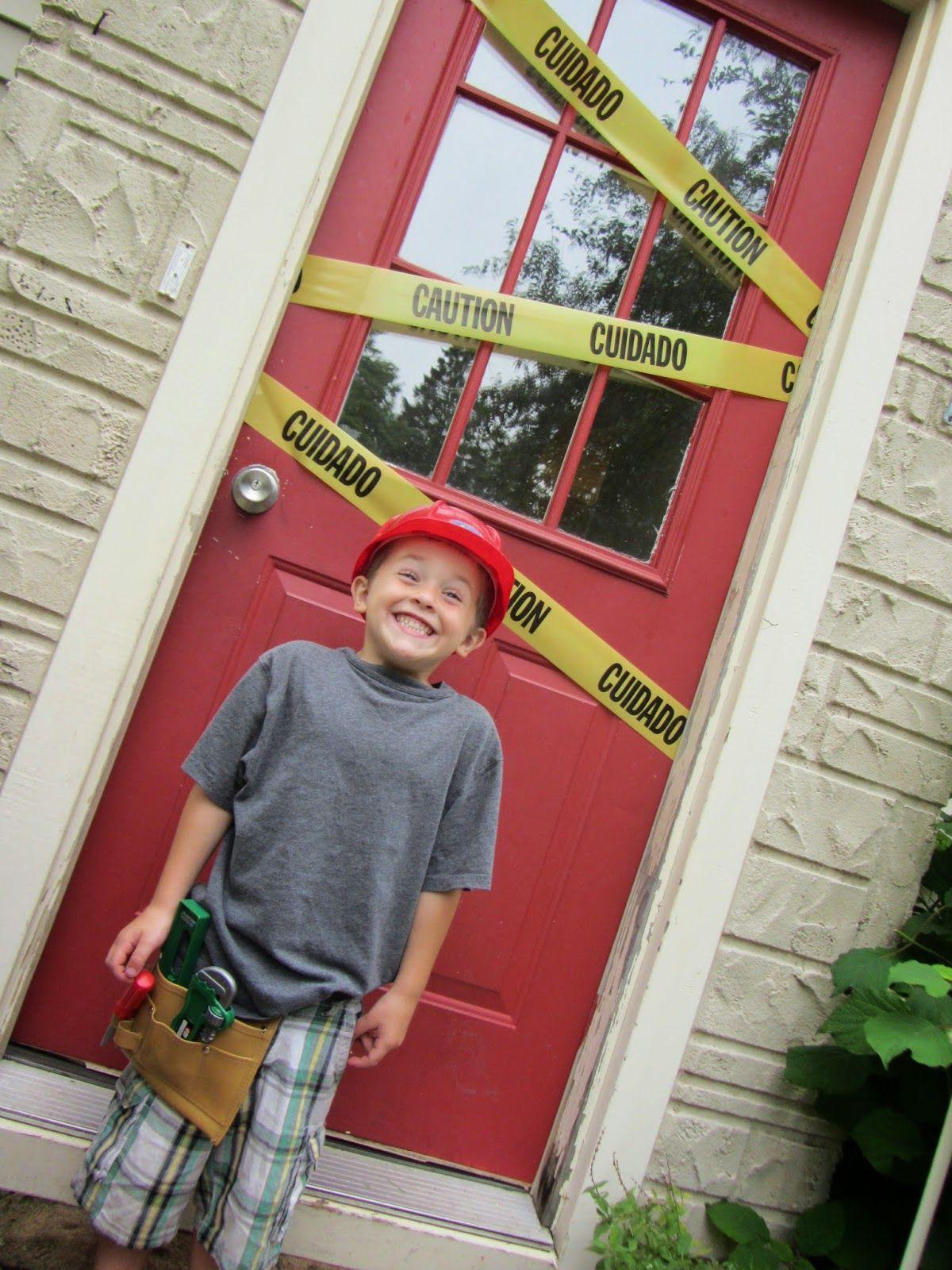 caution tape door