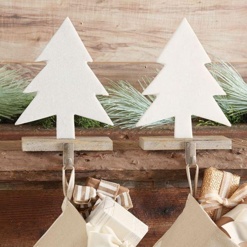 Christmas Tree Stocking Holder.Marble Tree Stocking Holder Fireplace Builtins Stocking Tree