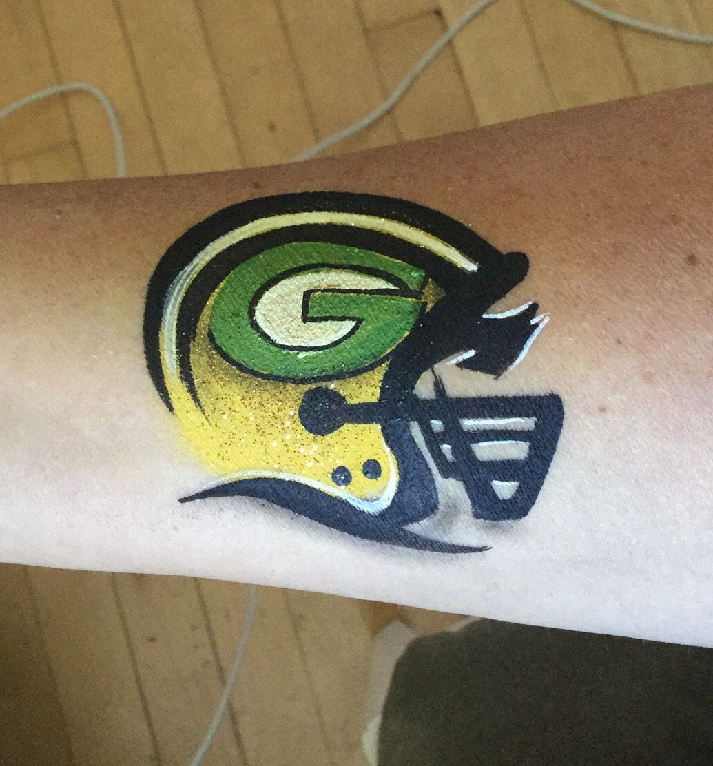 Pin By Susan Durry On Face Painting Inspiration Green Bay Packers Tattoo Face Painting Designs Skull Tattoos