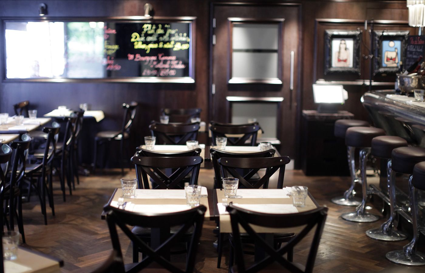 Café à Vin restaurant in Spital Square Spitalfields London