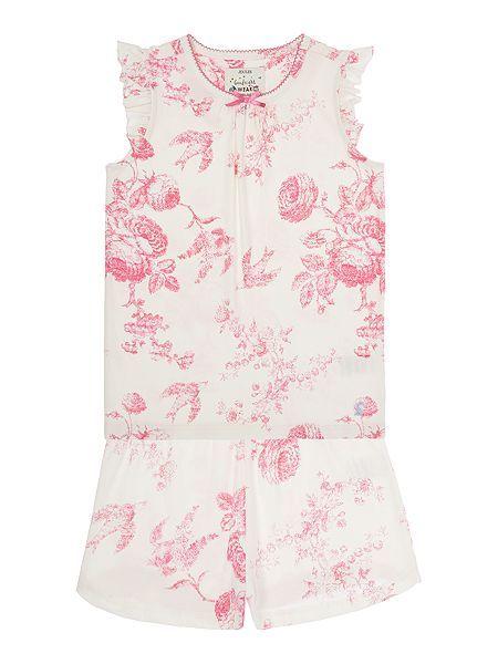 f7c17917e Joules Girls Floral Print Pyjamas Joules Girls, Pyjamas, Kids Wear,  Nightwear, Back
