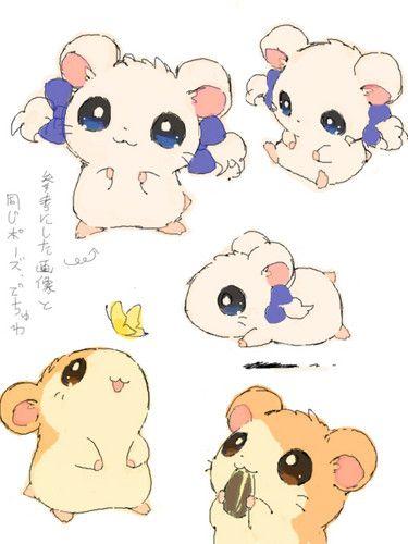 Kawaii World Fan Art Hamtaro Cute Drawings Cute Art Hamtaro