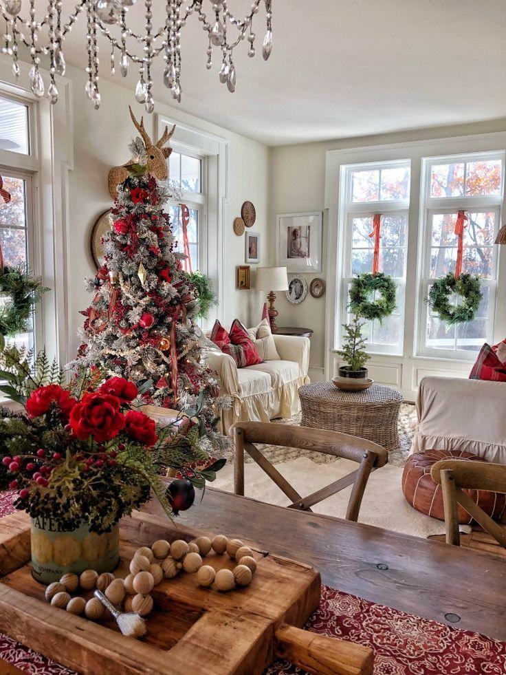 Weihnachtsdeko Inspiration.Atemberaubende Bauernhaus Weihnachtsdekor Inspiration Just Life