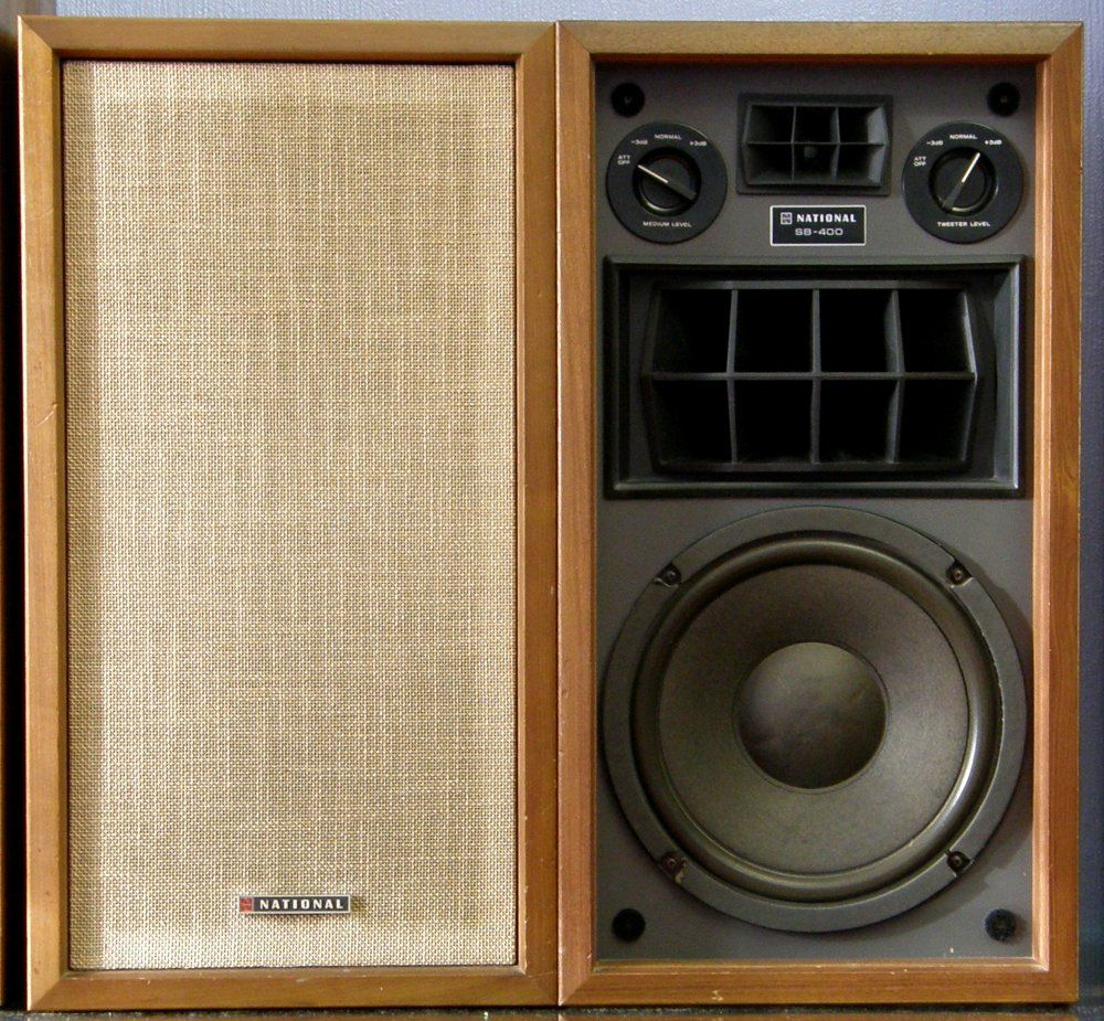 National Panasonic Sb 400x Vintage Speakers Pro Audio Speakers Vintage Electronics