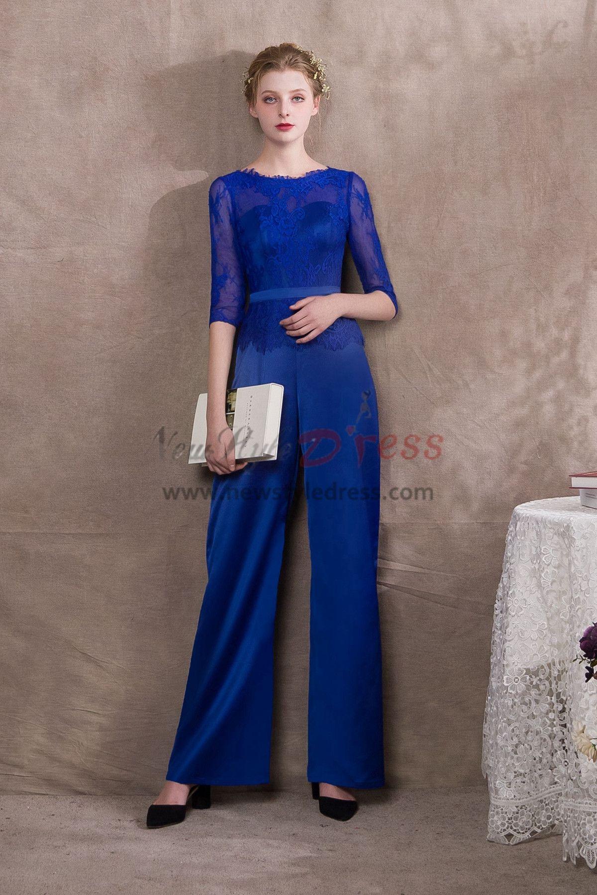 2ebc7673fcd2 Modern Royal Blue Prom dresses Jumpsuits Free Shipping NP-0395 ...