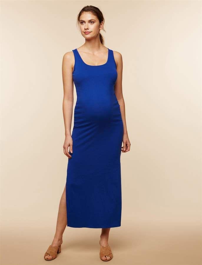 1dd4e262da5cd Rib Knit Maternity Maxi Dress   Products   Maternity dresses ...