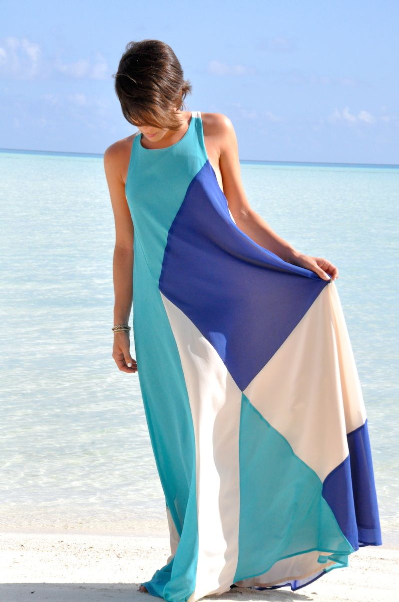 Dresses for guests at a beach wedding  Jovonna perfect beach dress on Giulia Maxi dress wedding guest