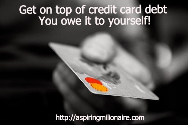 Aspiring millionaire Get on top of credit card debt - You owe it to - credit card payoff calculator spreadsheet