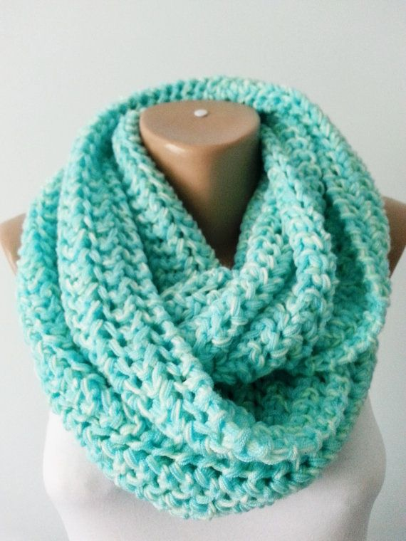Scarf Knit Scarf Infinity Scarf Circle by KNITANDCROCHETWORLD | Ropa ...