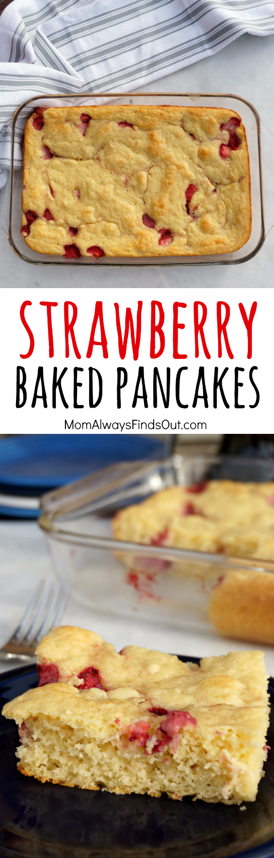 Strawberry Baked Pancakes | Recipe in 2020 | Baked ...
