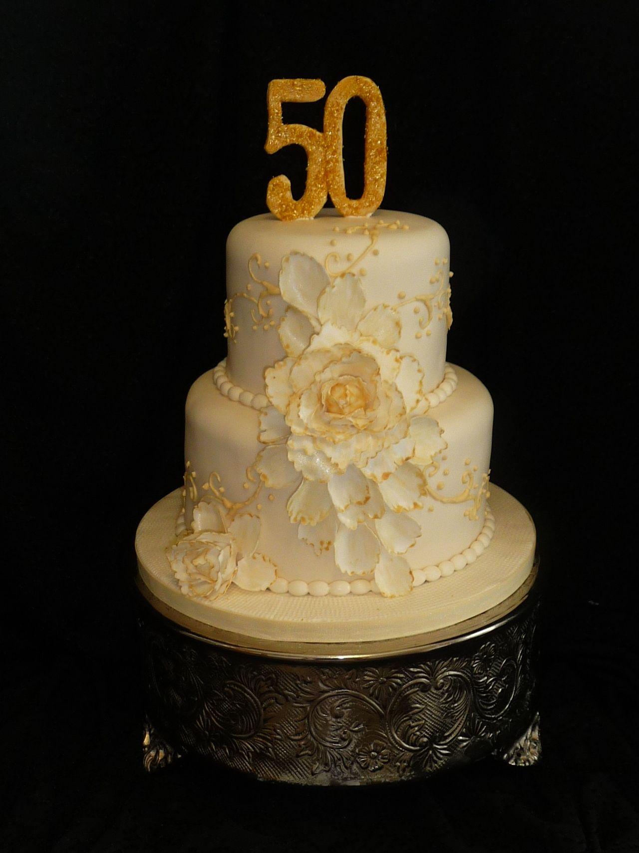 50th wedding anniversary cake 50th wedding anniversary