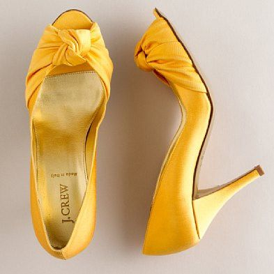 Yellow Wedding Shoes J Crew