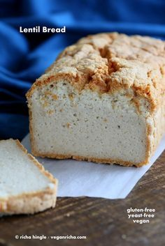 Fluffy Red Lentil Bread Grain Free Vegan Power Hungry Recipe Lentil Sandwich Lentil Bread Food