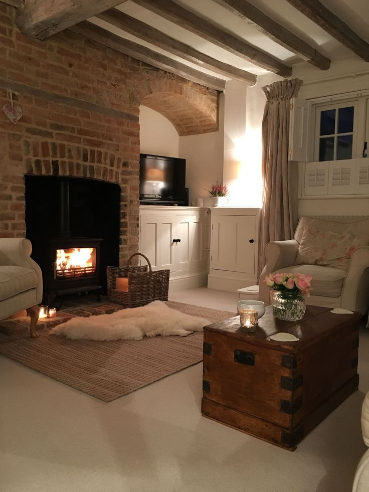 The fireplace design