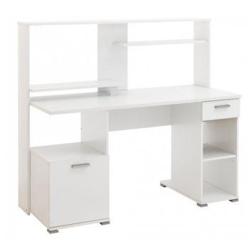 Bureau Informatique 1 P 1 T L144 Cm Blanc X2f Gris Bureau Contemporain Bureau Informatique Bureau Blanc