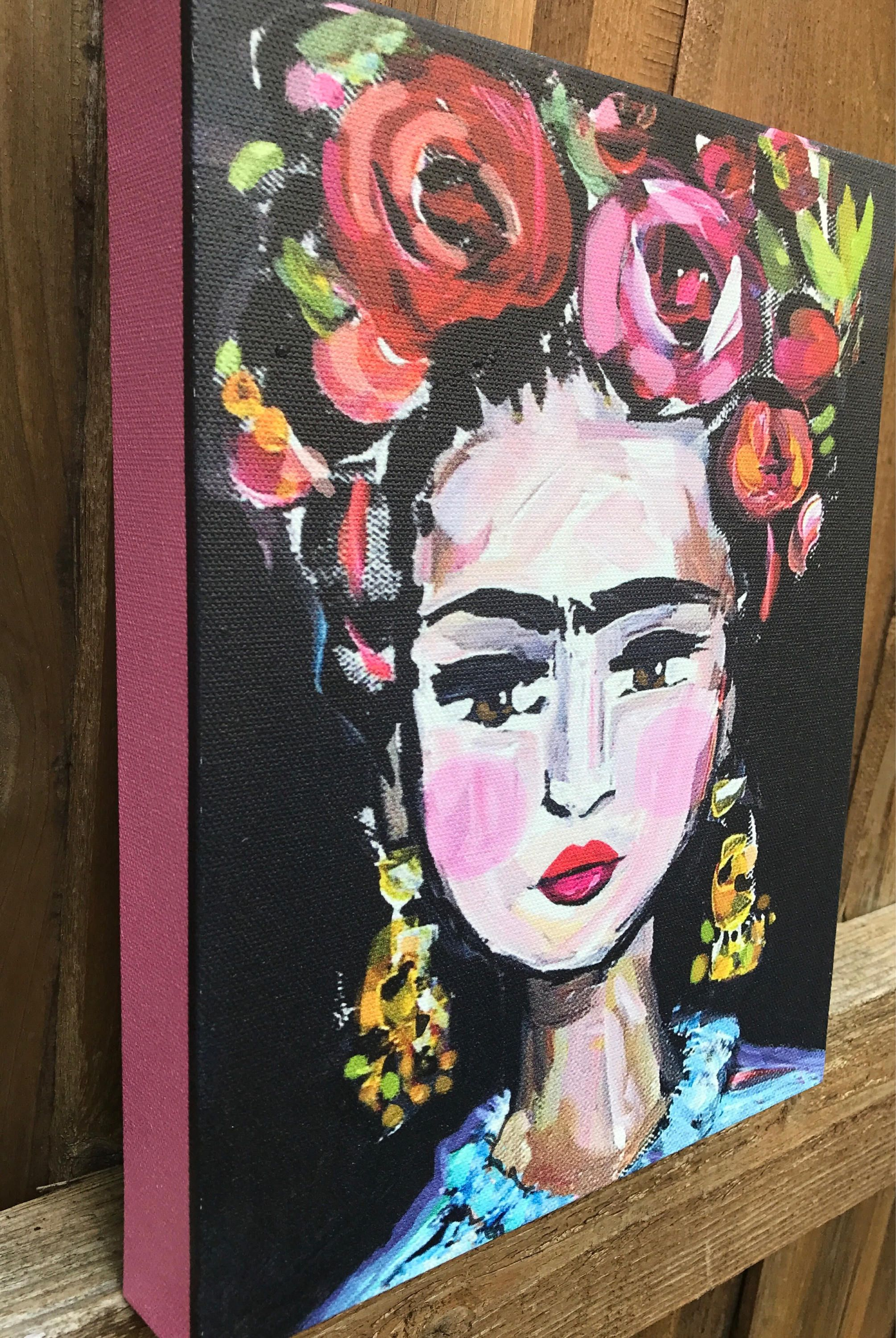 Frida Kahlo Pinturas Frida Print On Canvas Pink Sides High Profile Canvas