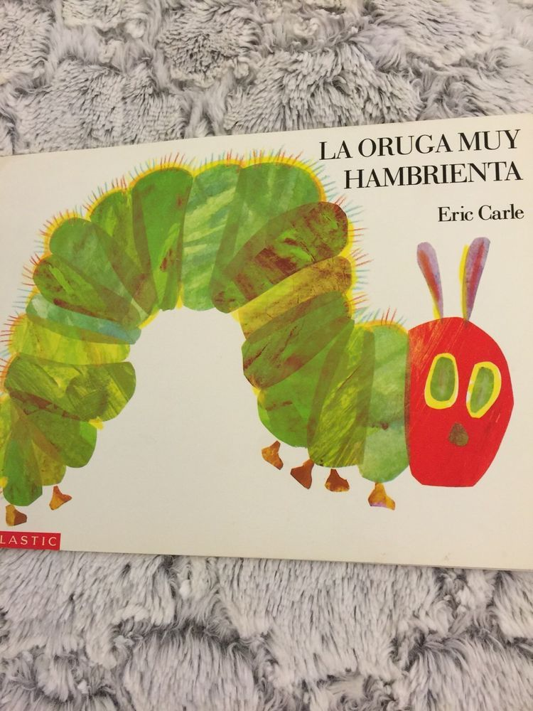 Spanish board book La oruga muy hambrienta