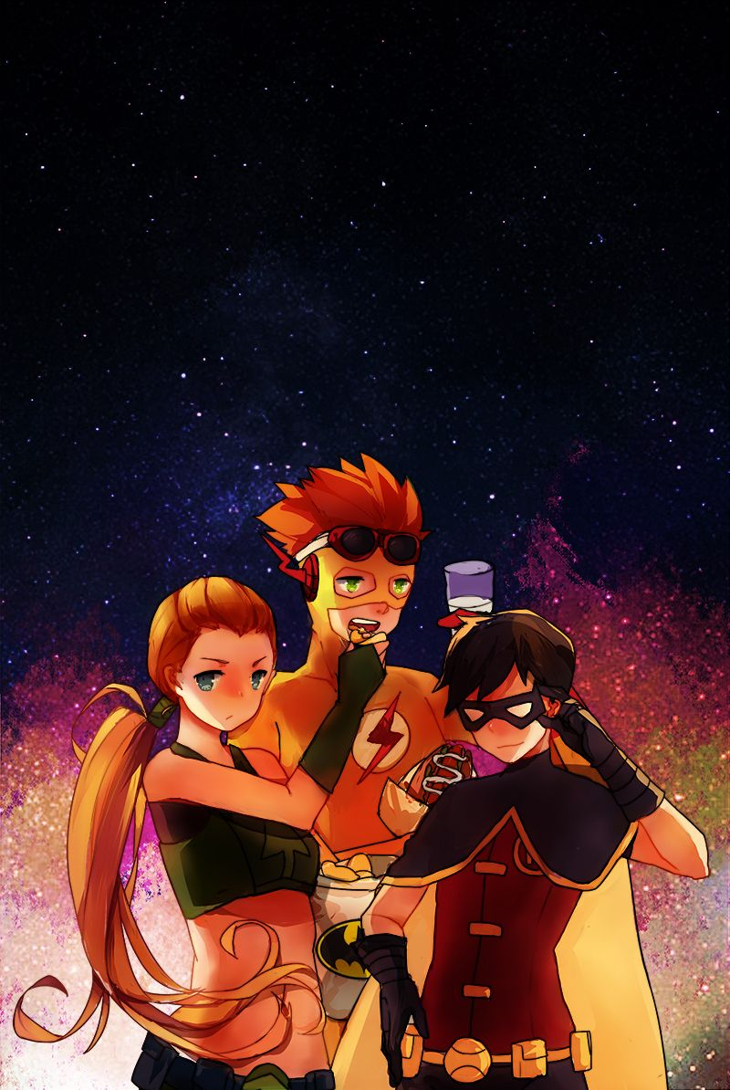 Artemis and Kid Flash and Robin (With images)   Young ...