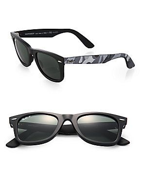 Obsessed with these Ray-Ban Wayfarer Camo Sunglasses
