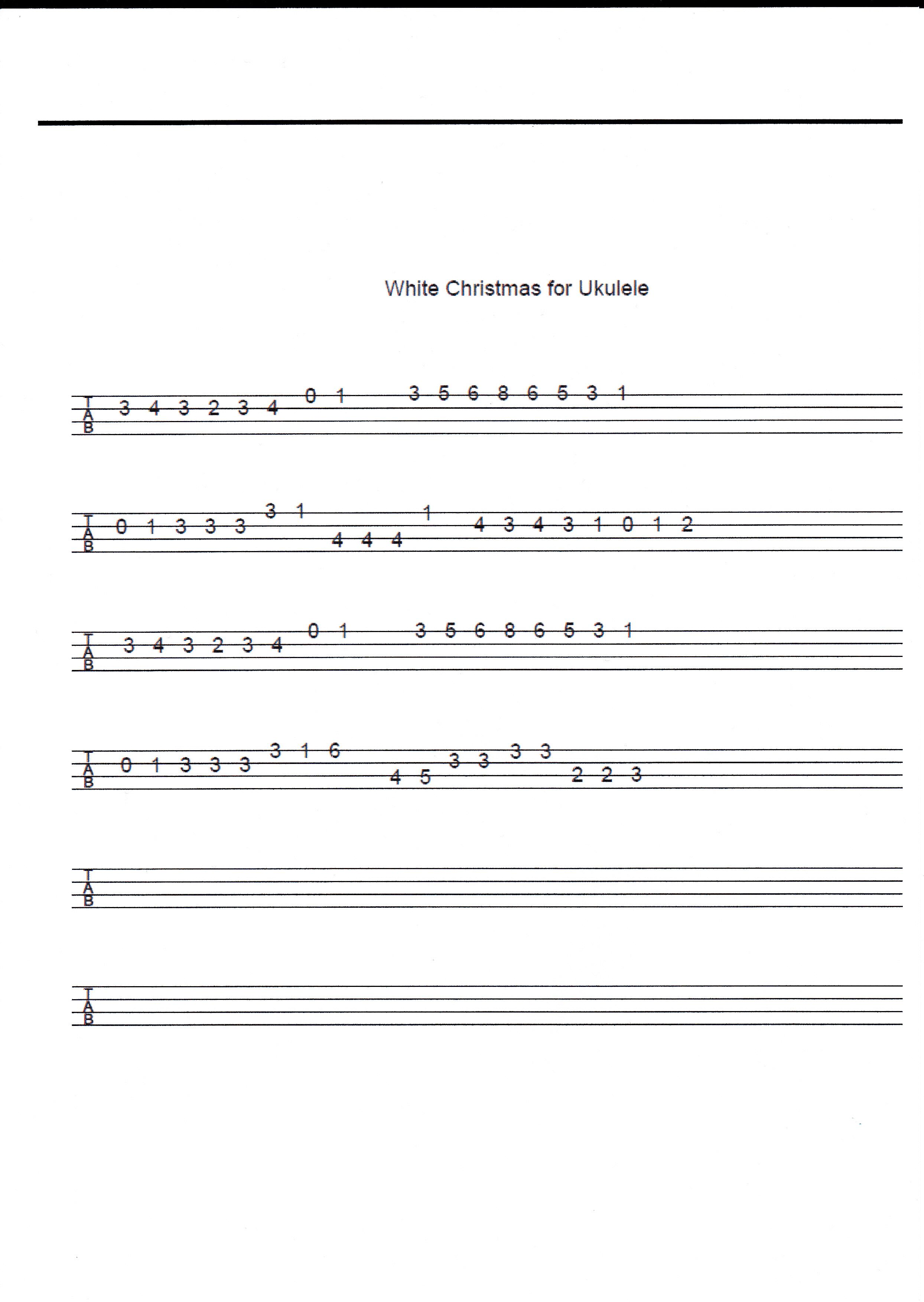 white christmas for ukulele Ukulele songs, Ukulele