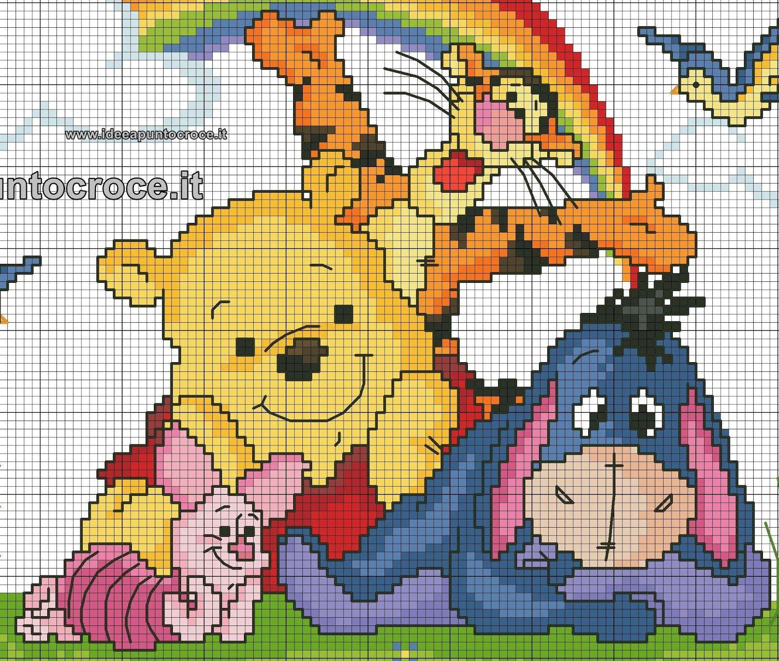 Schemi punto croce disney disney cross stitch winnie for Disney punto croce schemi gratis