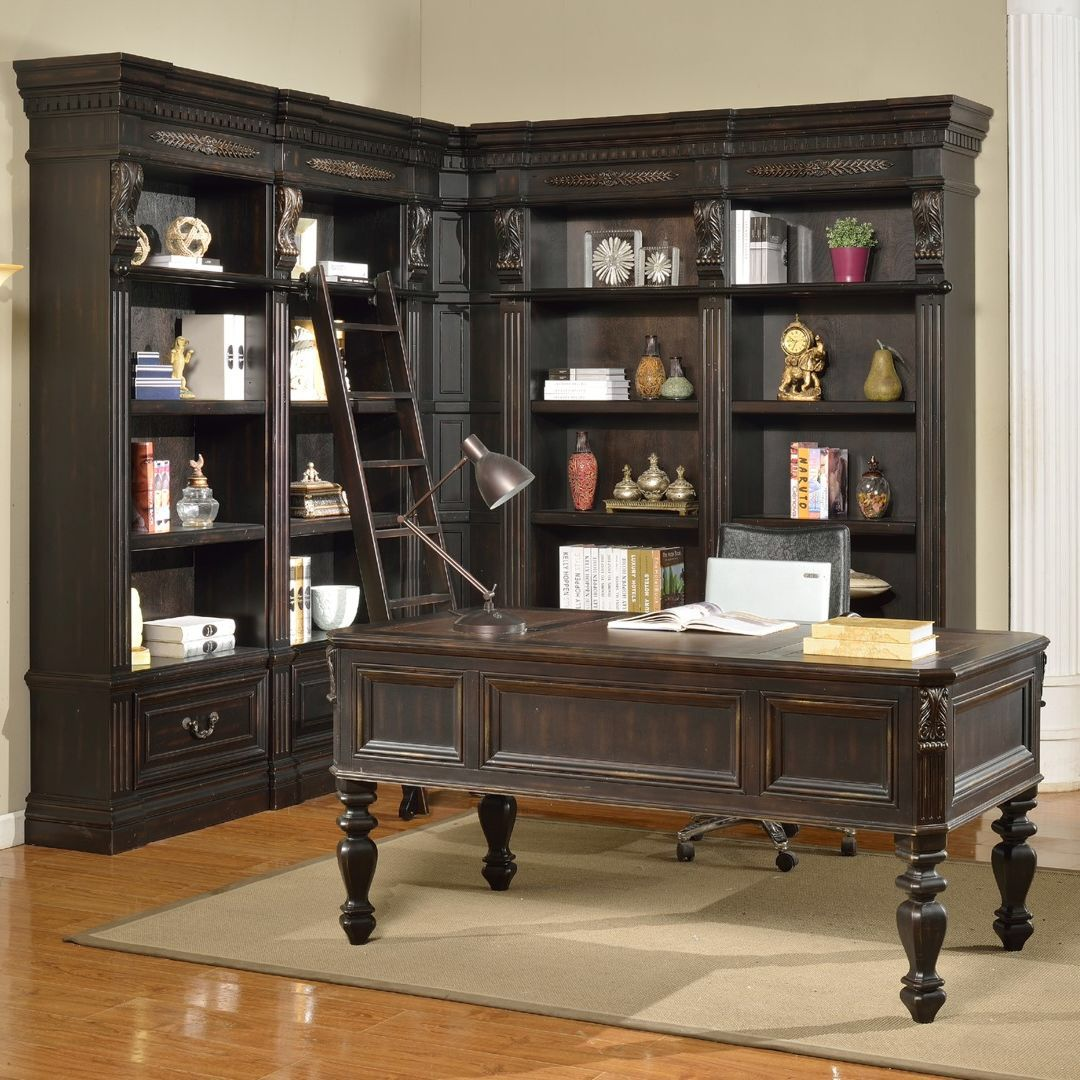 Grand manor palazzo writing desk and bookcase home sweet home