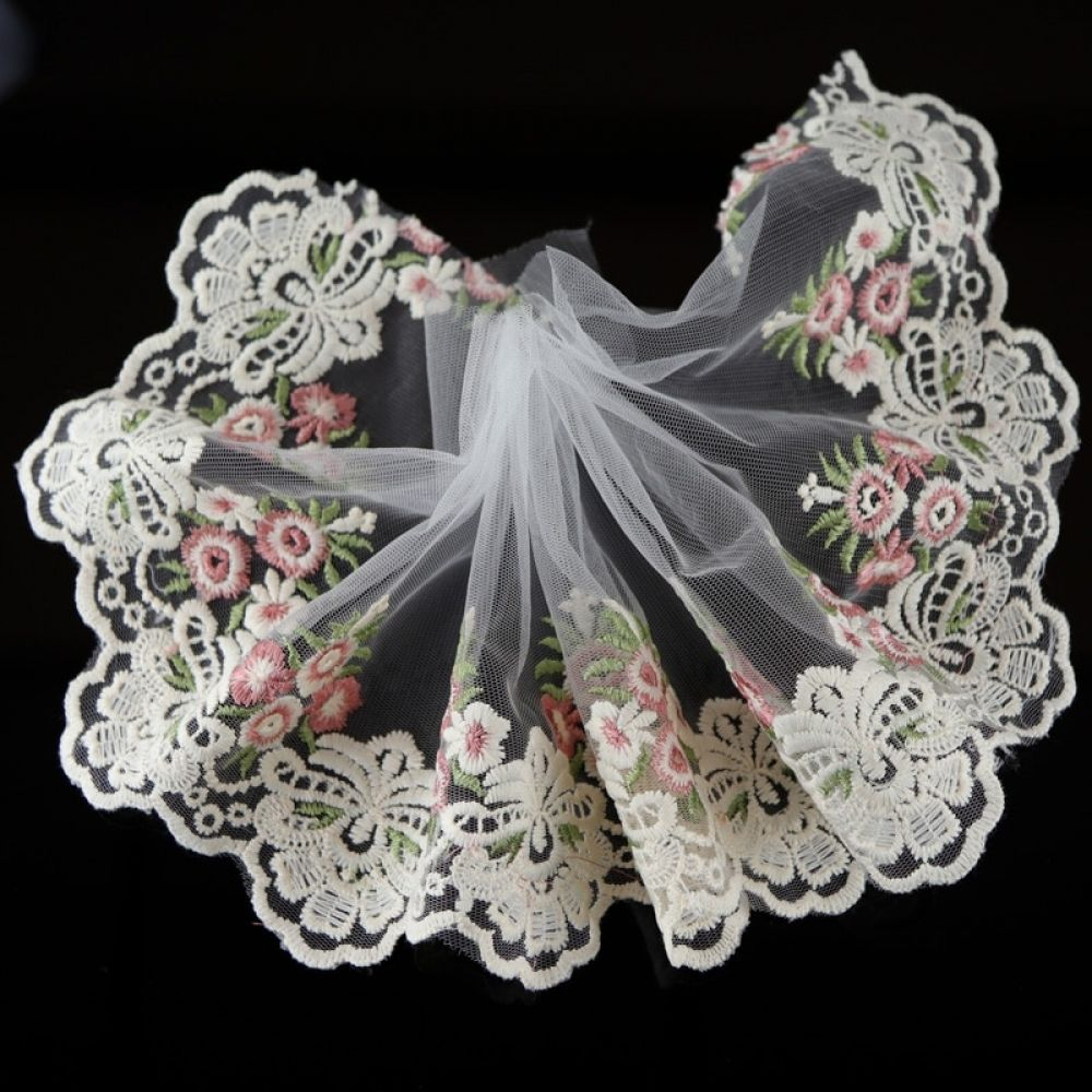 Fabric Venise Venice Lace Trim Flowers Polyester Craft Costume Dress DIY Decor