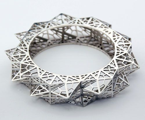 Fathom Form Jewelry Digital fabrication 3D Printing and 3d