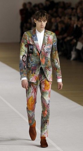 Paris Fashion Week: Dries Van Noten men's fall-winter 2012: I was going out wearing this yesterday, until I looked in my mirror!