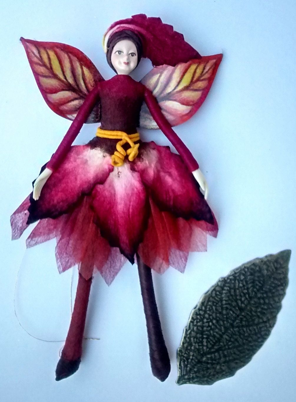 Woodland Fairy Figurine | Jasmine| fairy figurine ornament - pinned by pin4etsy.com