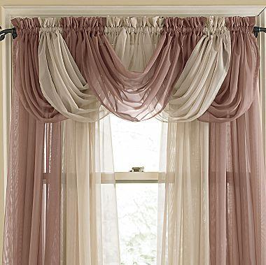 Picture Window In Family Room Lisette Rod Pocket Sheer Toga Valance