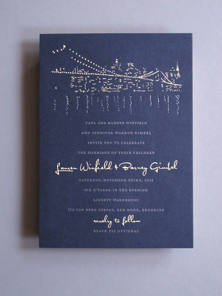 best home printer for printing wedding invitations%0A Silver Foil Nighttime Cityscape Invitation by Thomas Printers