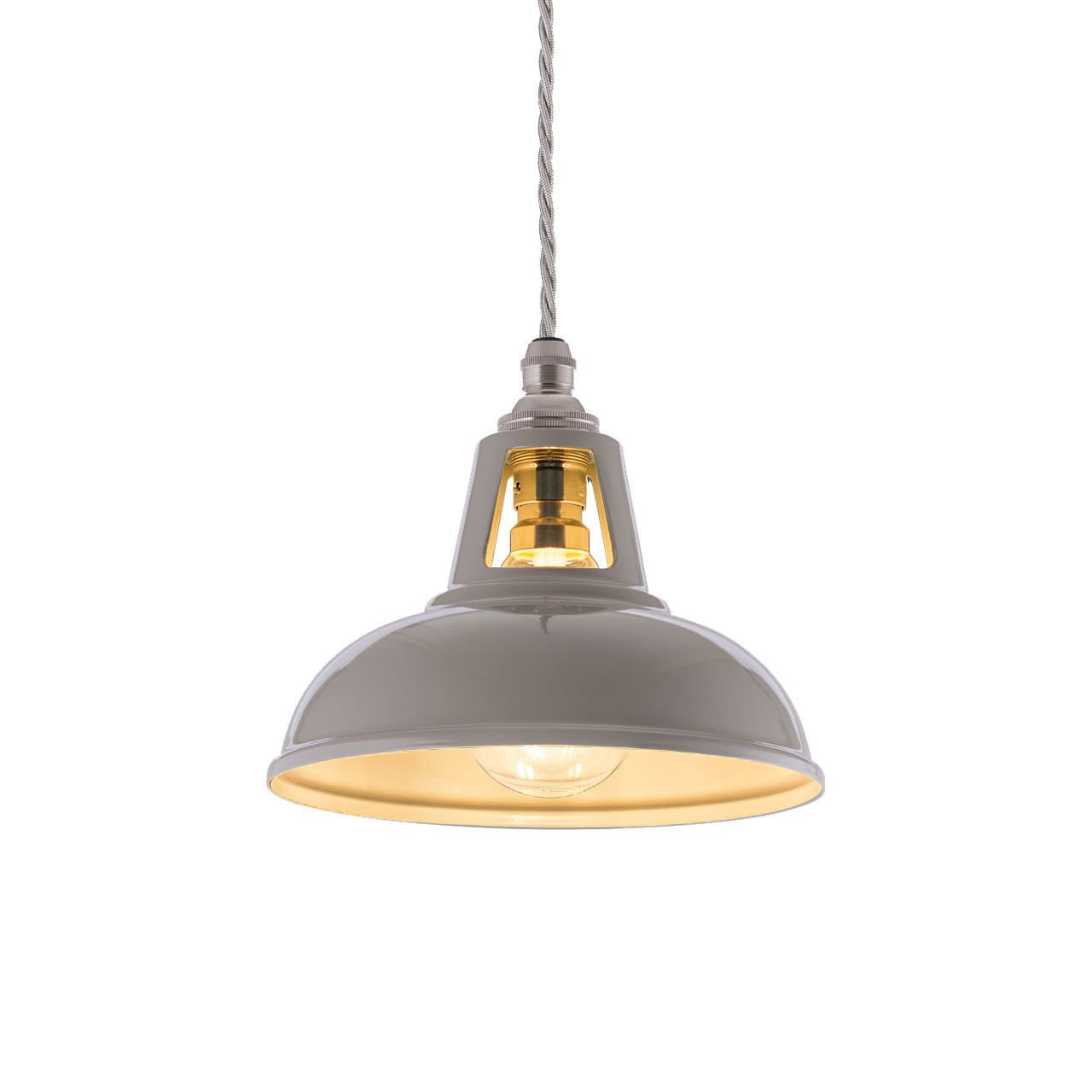 Micro Coolicon Mid Grey Industrial Pendant Lights Vintage