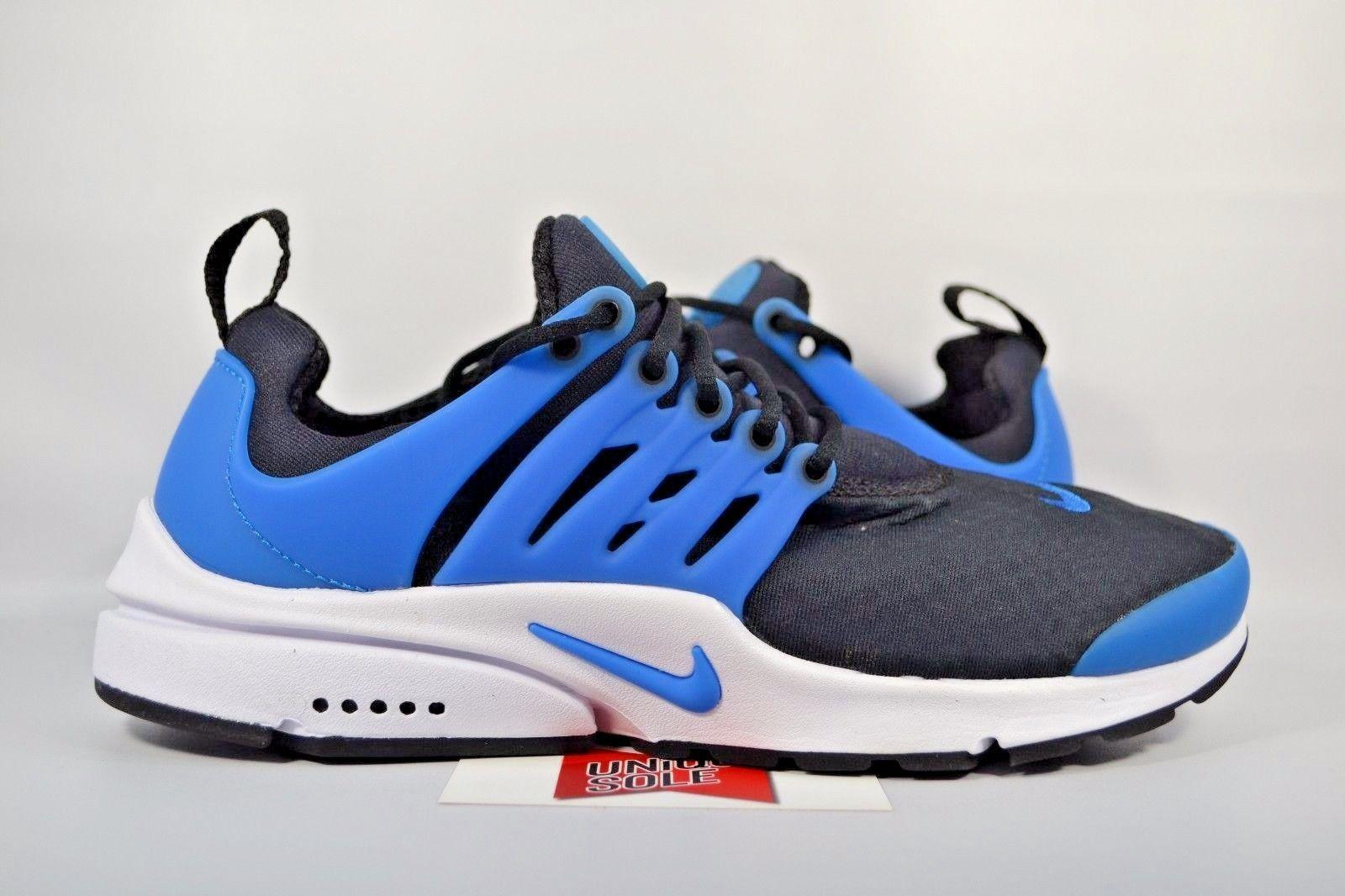Nueva Nike Air Presto Imprescindible Foto 848187 005 Azul Sz 9 Hombres Negro Azul 005 b4df6d