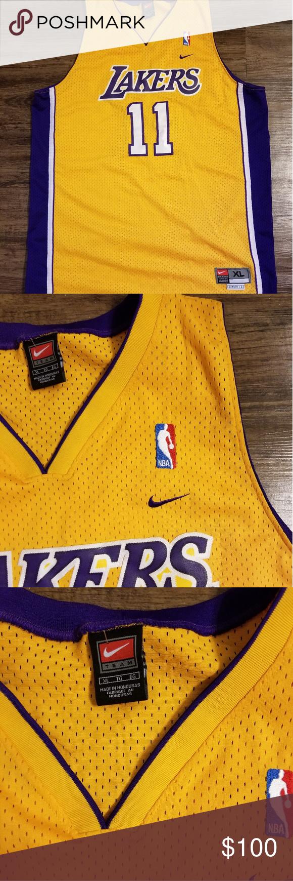 7befe6b9802 Vintage New Nike Karl Malone Lakers Jersey Size XL + 2 Vintage new Nike #11  Karl Malone Jersey. Nike Shirts