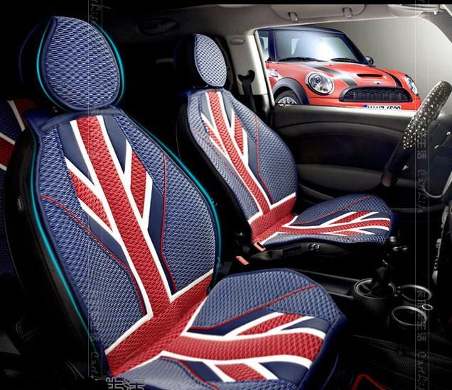 red union jack summer car seat covers for mini cooper r56 countryman clubman f55 f56 etc. Black Bedroom Furniture Sets. Home Design Ideas