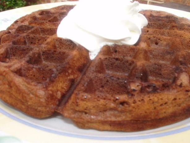 Good Eats Chocolate Chip Waffles (Alton Brown) | Recipe | Chocolate chip waffle recipe. Waffle recipes. Brown recipe